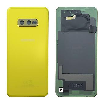 Samsung GH82-18452 G battery cover cover for Galaxy S10e G970F + adhesive pad yellow canary yellow new