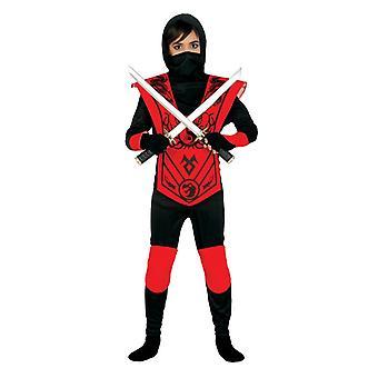 Niños Ninja rojo Guerrero asesino disfraz