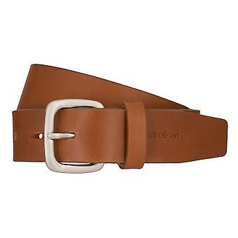 Hommes de Strellson jeans ceinture ceinture ceinture en cuir de vachette Cognac 7920