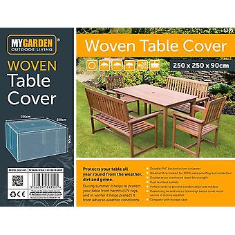 My Garden Woven Table Cover Waterproof Outdoor Bench Shelter 250x250x90cm