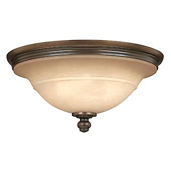 Elstead-3 Light semi Flush plafonnier lumière Olde bronze-HK/PLYMOUTH/F