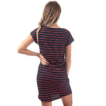 Womens Only May Stripe Dress In Night Sky / Flame Scarlet