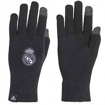 2018-2019 Real Madrid Adidas Gloves (Black)
