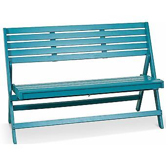 Lanterfant Cees houten tuinbank - blauw
