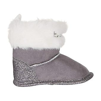 bebe Infant Girls Winter Boots with Glitter and Cuffs Slip-On Shoes