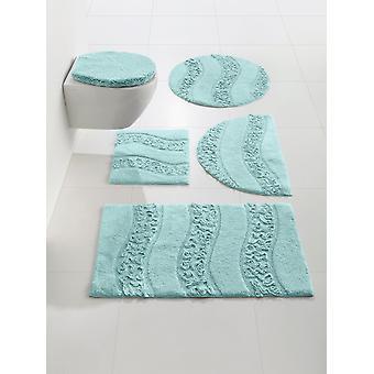 Heine home bathroom carpet bathroom tray with ruffle application microfiber approx. 75 round