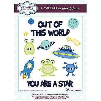 Creative Expressions Lisa Horton Stitched Collection Out of this World Craft Die