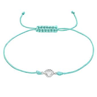 Shell - 925 Sterling Silver + Nylon Cord Corded Bracelets - W38993X