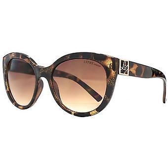 Lipsy London Cat Eye Sunglasses - Brown/Black