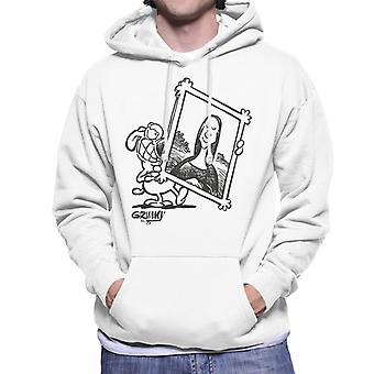 Grimmy Holding Mona Lisa Men's Hooded Sweatshirt