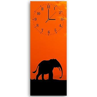 Dekorative Uhr mit Bild, Elefant