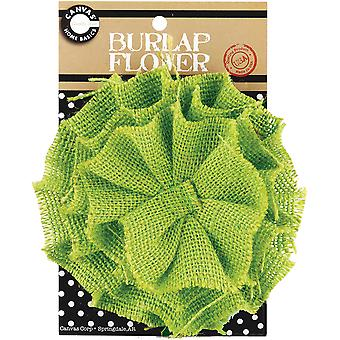 Burlap Flower Green Burflwr 3045