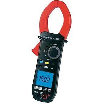 Current clamp, Handheld multimeter digital Chauvin Arnoux F403 Calibrated to: Manufacturer standards CAT IV 1000 V Disp