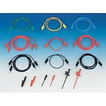 Test lead kit 1 m Black, Red, Blue, Yellow, Green SKS Hirschman