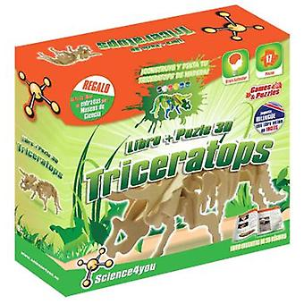 Science 4 You Book + Puzzle Triceratops (Toys , Educative And Creative , Vocabulary)