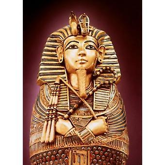 Toetanchamon Canopic Coffin - Detail 1342 BC Egyptische kunst goud ingelegd met juwelen Egyptische nationale Museum Cairo Egypte Poster Print