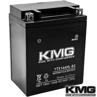 KMG YTX14AHL-BS Battery For Honda 1000 CBR1000F Hurricane 1987-1996 Sealed Maintenace Free 12V Battery High Performance SMF OEM Replacement Powersport Motorcycle ATV Snowmobile Watercraft