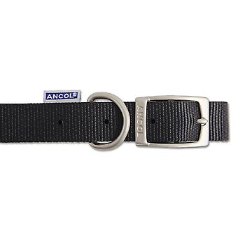 Heritage Nylon Collar Black 12mm X20-26cm Sz1