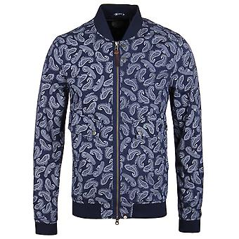 Pretty Green Forrester Navy Paisley Print Bomber Jacket