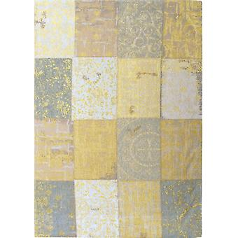 Vanilla Dream Distressed Yellow Patchwork Rug - Louis De Poortere