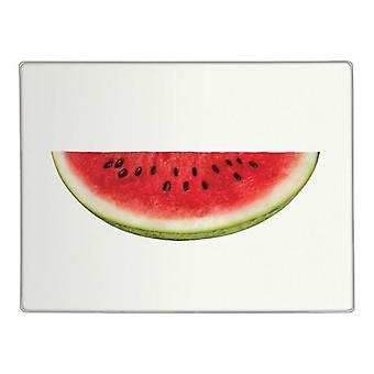 Half Water Melon Design Glass Worktop Saver Kitchen Chopping Cutting Board