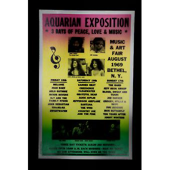 Aquarium Exposition Concert retro poster