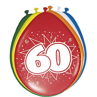 Colorful balloons balloon number 60 birthday 8 St. decoration balloons party