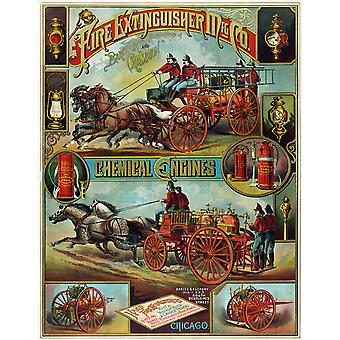 Fire Extinguisher Poster Print Giclee