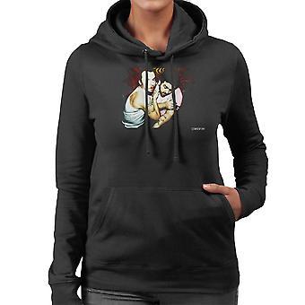 Simon Pegg und Nick Frost Libertines Album Cover Damen Sweatshirt mit Kapuze