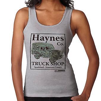 Chaleco de la mujer de Haynes marca carro tienda Sparkford Land Rover