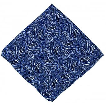 Michelsons of London All Over Paisley Silk Handkerchief - Blue
