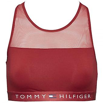Tommy Hilfiger Women Sheer Flex Cotton Bralette, Scooter Red, Large