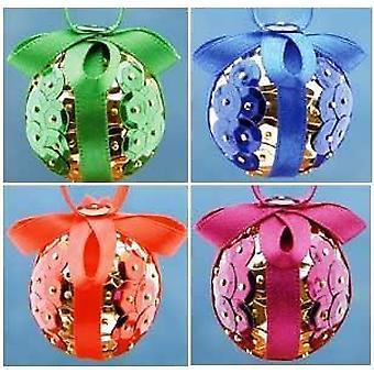Pinflair Sequin & Pin Assorted Christmas Bauble Ornament - Makes 20