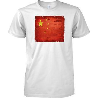 Chiny Grunge Grunge efekt flaga - koszulki męskie