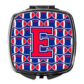 Buchstabe E Fußball Harvard Crimson und Yale blau Taschenspiegel