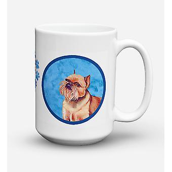 Brussels Griffon lavastoviglie sicuro Microwavable ceramica Coffee Mug 15 oncia