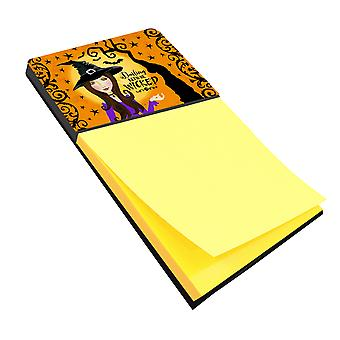 Carolines Treasures  VHA3019SN Halloween Wicked Witch Sticky Note Holder