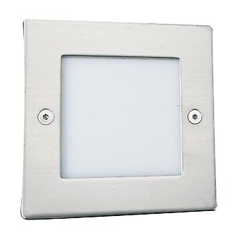 Searchlight 9907WH LED Recessed 71mm White Square Light