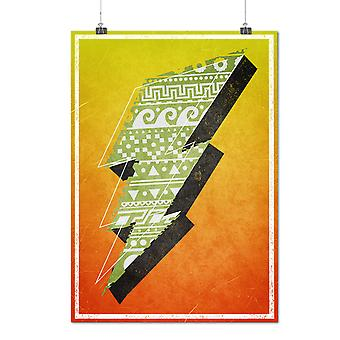 Matte of glanzende Poster met Flash ondertekenen Aztects Geek | Wellcoda | * d2377