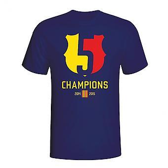 Camiseta de campeões Barcelona 2015 (Marinha)