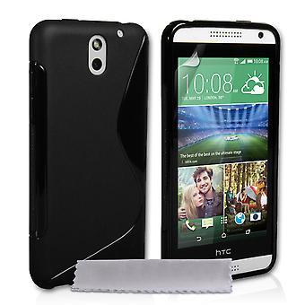 Caseflex HTC Desire 610 siliconen Gel S-Line Case - zwart
