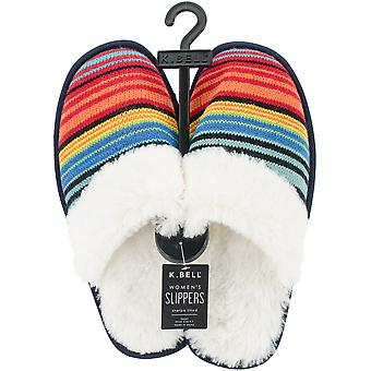 K Bell Slippers-Rainbow Stripe - Large 17S052-LARGE