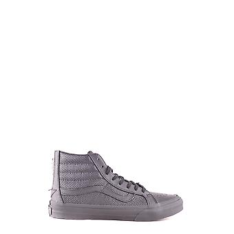 Vans women's MCBI306104O black leather Hi Top sneakers