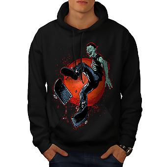 Bad Guy Skater Cool Men BlackHoodie | Wellcoda
