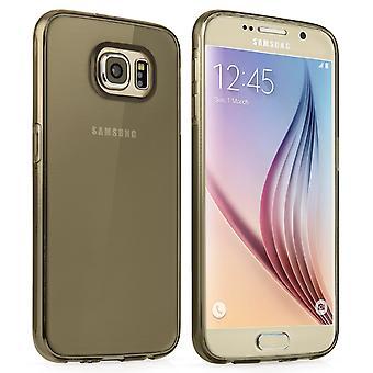Samsung Galaxy S6 Gel Ultra delgada - estuche negro humo