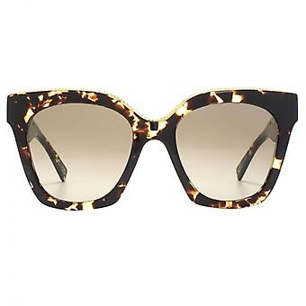 Marc Jacobs Metal Twist Brow Detail Cateye Sunglasses Dark Havana