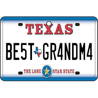 Texas - Best Grandma License Plate Car Air Freshener
