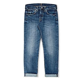Edwin Jeans ED-55 Regular Tapered Red Listed Selvage Jeans (Contrast Clean Wash)