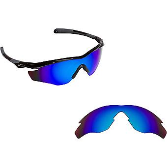 M2 Frame Replacement Lenses Polarized Blue Mirror by SEEK fits OAKLEY Sunglasses