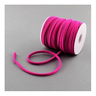 1x Fuchsia Habotai Stretchy Spandex 2m x 5mm Thong Cord Continuous Length Y05080